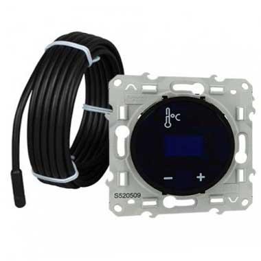 SCHNEIDER Odace Thermostat à écran tactile noir - S520509
