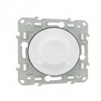 SCHNEIDER Odace Interrupteur variateur rotatif 600W blanc - S520511