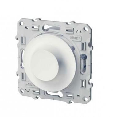 SCHNEIDER Odace Interrupteur variateur LED rotatif 400W blanc - S520512