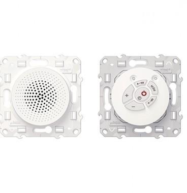 SCHNEIDER Odace Prise radio FM + haut-parleur blanc - S520583
