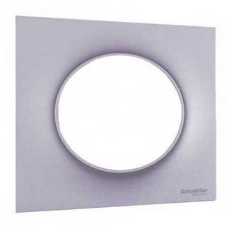 SCHNEIDER Odace Styl Plaque simple aluminium - S520702E