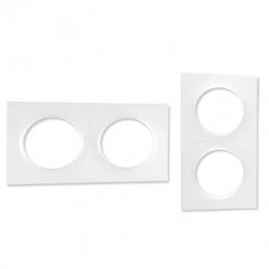 SCHNEIDER Odace Styl Plaque double blanc - S520704