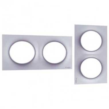 SCHNEIDER Odace Styl Plaque double aluminium - S520704E