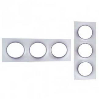 SCHNEIDER Odace Styl Plaque triple aluminium - S520706E
