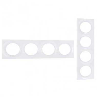 SCHNEIDER Odace Styl Plaque quadruple blanc - S520708
