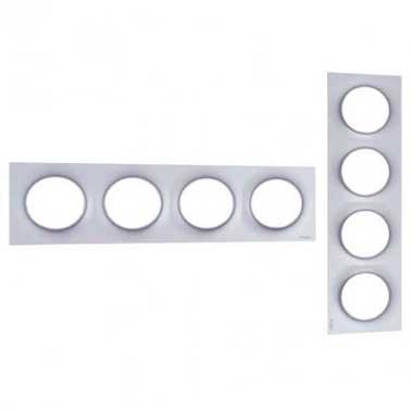 SCHNEIDER Odace Styl Plaque quadruple aluminium - S520708E