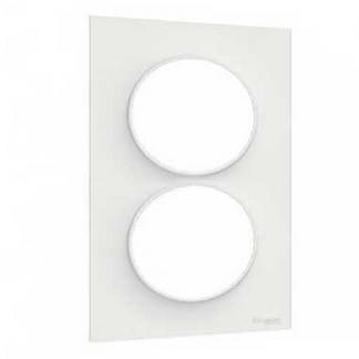 SCHNEIDER Odace Styl Plaque double verticale blanc E57 - S520714