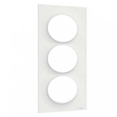 SCHNEIDER Odace Styl Plaque triple verticale blanc E57 - S520716