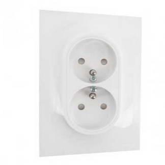 SCHNEIDER Odace Prise de courant double 2P+T pour rénovation - S521089