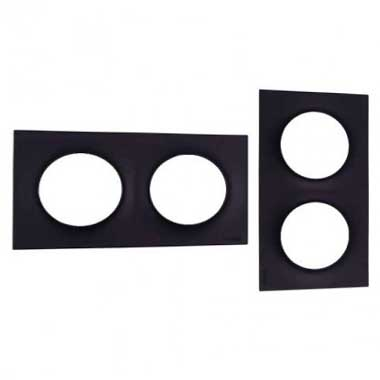 SCHNEIDER Odace Styl Plaque double anthracite - S540704