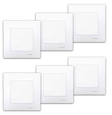 SIEMENS Delta Viva Lot de 6 interrupteurs va et vient complet blanc