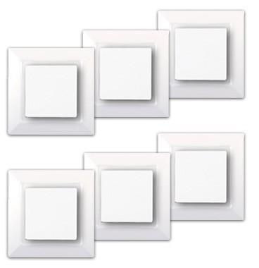 SIEMENS Delta One Lot de 6 interrupteurs va et vient complets blanc