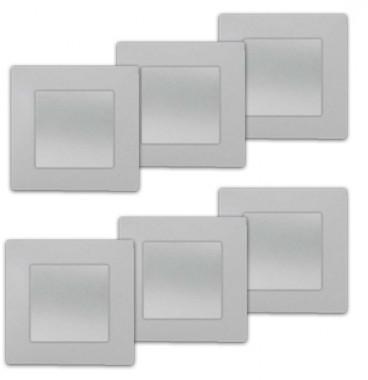 SIEMENS Delta Viva Lot de 6 interrupteurs va et vient complet silver
