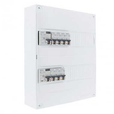 SIEMENS Tableau électrique prééquipé 2 rangées 2ID 40A 7 disjoncteurs