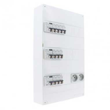 SIEMENS Tableau électrique pré-équipé 3 rangées 3ID 40A 10 disjoncteurs