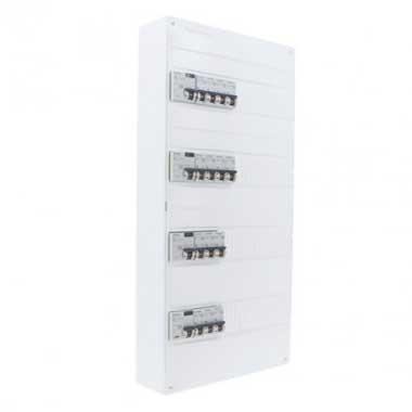 SIEMENS Tableau électrique pré-équipé 4 rangées 4ID 40A 14 disjoncteurs