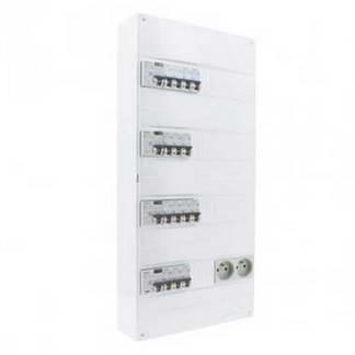 SIEMENS Tableau électrique pré-équipé 4 rangées 2ID 40A 2ID 63A 14 disjoncteurs