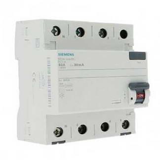 SIEMENS Interrupteur différentiel tétrapolaire 63A 30mA type AC 4 modules 400V