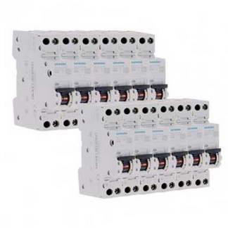 SIEMENS Lot de 10 disjoncteurs 10A Ph+N courbe C 4.5kA 230V