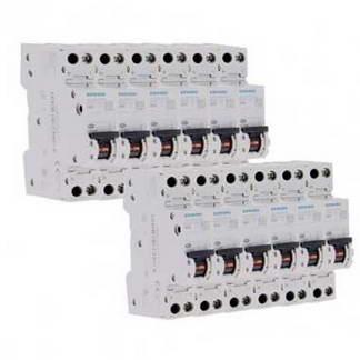 SIEMENS Lot de 10 disjoncteurs 20A Ph+N courbe C 4.5kA 230V
