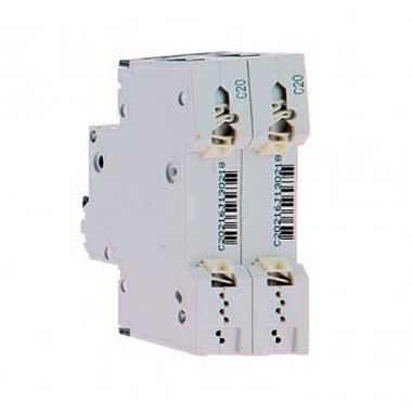 SIEMENS Disjoncteur bipolaire 20A pour parafoudre courbe C 6kA 230V
