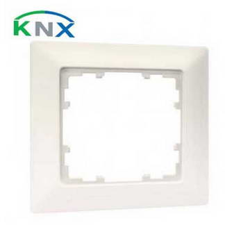 SIEMENS KNX Plaque simple blanc titane 80x80mm