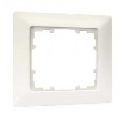 SIEMENS KNX Plaque simple blanc titane 80x80mm