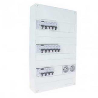 SIEMENS Tableau électrique prééquipé 3 rangées 3ID 63A 12 disjoncteurs
