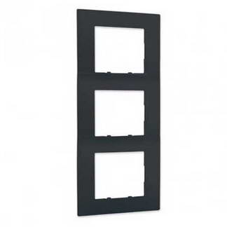 SIEMENS Delta Viva Plaque triple anthracite