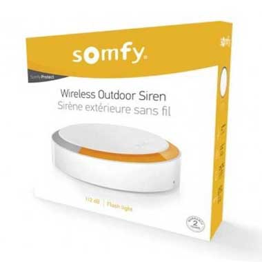 SOMFY Protect Sirène extérieure 112db avec flash lumineux - 2401491