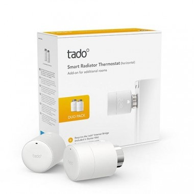 TADO Vanne thermostatique connectée et intelligente Pack Duo - Lot de 2