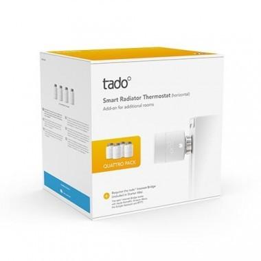 TADO Vanne thermostatique connectée et intelligente Pack Quattro - Lot de 4