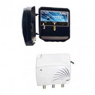 TONNA Kit amplificateur de mât 4G 1 entrée avec alimentation 2 sorties 20dB - 360210