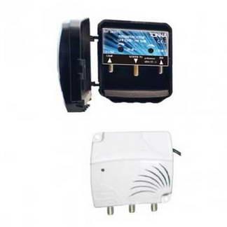 TONNA Kit amplificateur de mât 4G 2 entrées et alimentation 2 sorties 15/25dB - 360220