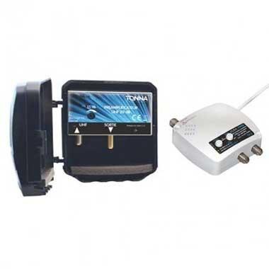 TONNA Kit préamplificateur de mât 4G avec alimentation commutable 35dB - 360254