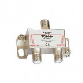 TONNA Répartiteur 2 sorties à connecteur F - 365021