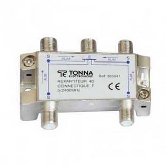 TONNA Répartiteur 4 sorties à connecteurs F - 365041