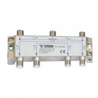 TONNA Répartiteur 6 sorties à connecteurs F - 365060