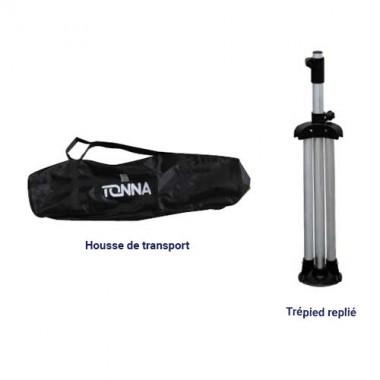 TONNA Trépied réglable pour camping en aluminium 1,1m x 1,8m - 503702