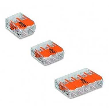 WAGO S221 40 mini bornes de connexion rapide 2, 3 et 5 entrées pour fils souples et rigides
