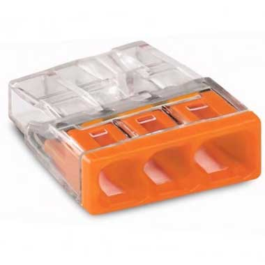 WAGO S2273 100 mini bornes de connexion rapide 3 entrées pour fils rigides - 2273-203