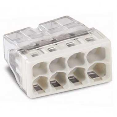 WAGO S2273 25 mini bornes de connexion rapide 8 entrées pour fils rigides - 2273-208