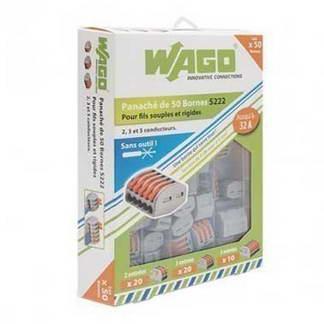 WAGO S222 50 bornes de connexion rapide 2, 3 et 5 fils pour fils souples et rigides
