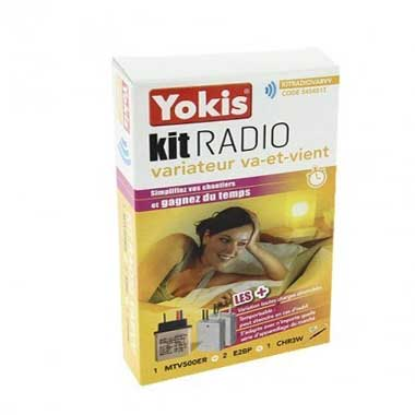 YOKIS Kit radio variation va et vient 1 télévariateur et 2 émetteurs radio - KITRADIOVARVV