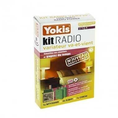 YOKIS Power Kit radio variation va et vient 1 télévariateur et 2 émetteurs radio - KITRADIOVARVVP