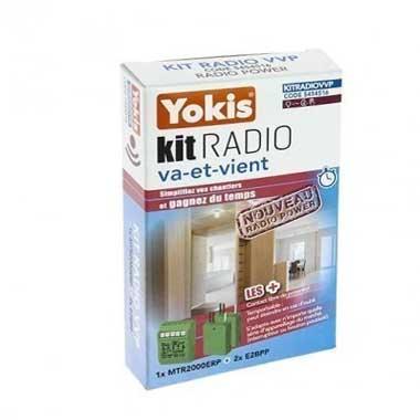 YOKIS Power Kit radio va et vient 1 télérupteur et 2 émetteurs radio - KITRADIOVVP